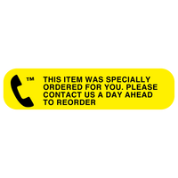 """SPECIALLY ORDERED"" Medication Label"