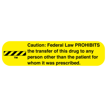 """LAW PROHIBITS"" Label"