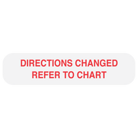 """REFER TO CHART"" Medication Label"