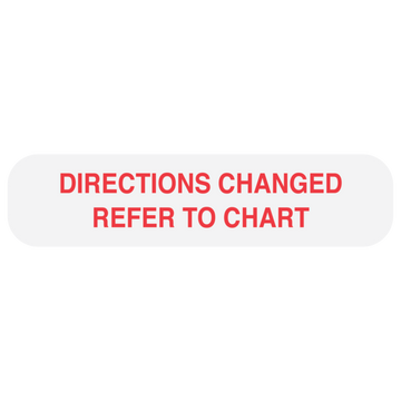 """REFER TO CHART"" Label"