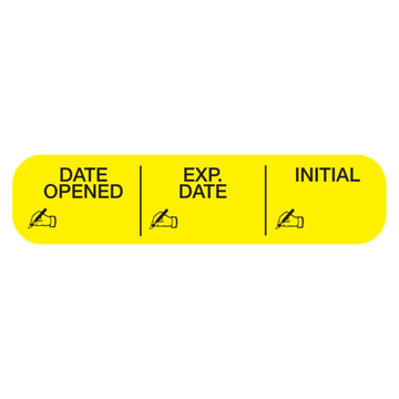 """DATE OPEN-EXP-INI"" Label"
