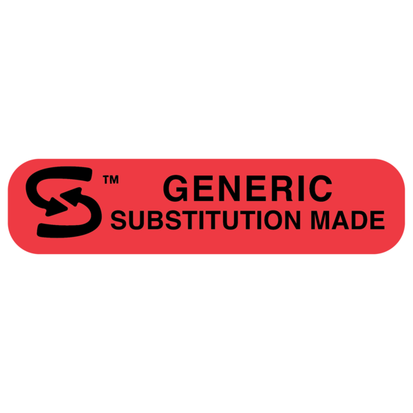 """GENERIC SUBSTITUTION"" Medication Label"