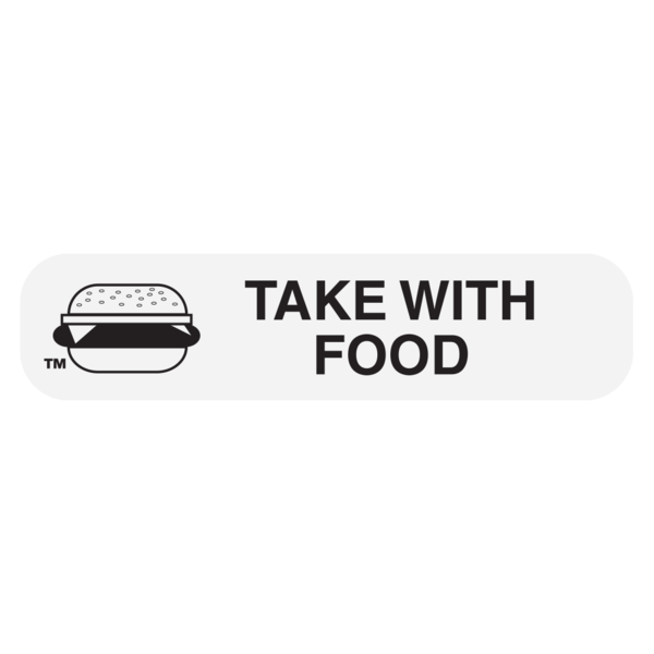 """Take With Food"" Medication Label"