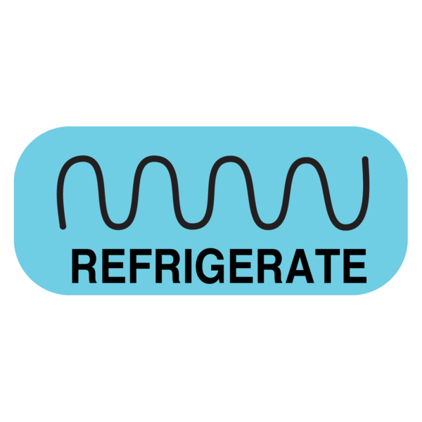 """REFRIGERATE"" Medication Label"