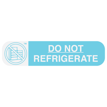 """NO REFRIGERATE"" Label"