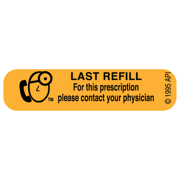 """LAST REFILL"" Label"