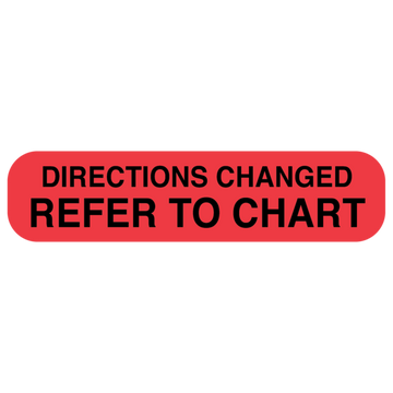 """DIRECTIONS CHANGED"" Label"