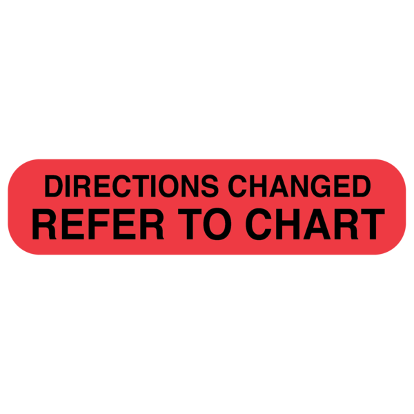 """DIRECTIONS CHANGED"" medical label"