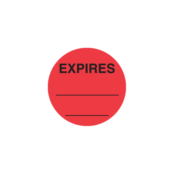 """EXPIRES__ "" Circle Spot Medication Label"