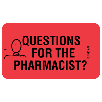 """QUESTIONS FOR THE PHARM"" Label"