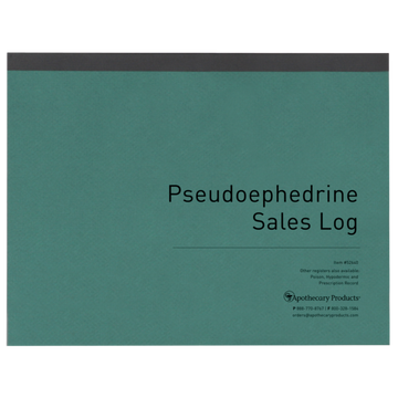 Pseudoephedrine Sales Log