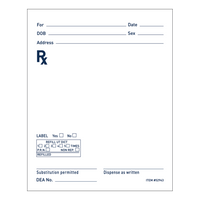 Rx Prescription Pad
