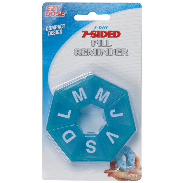 7-sided pill reminder  in package (spanish labels)