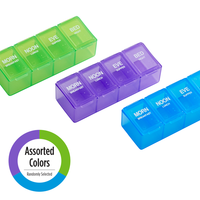 4x/Day Classic Pill Planner in assorted colors
