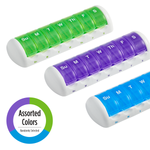 Weekly Travel Pill Pods in assorted colors