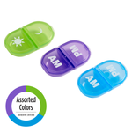 Daily AM/PM Pill Planner assorted colors