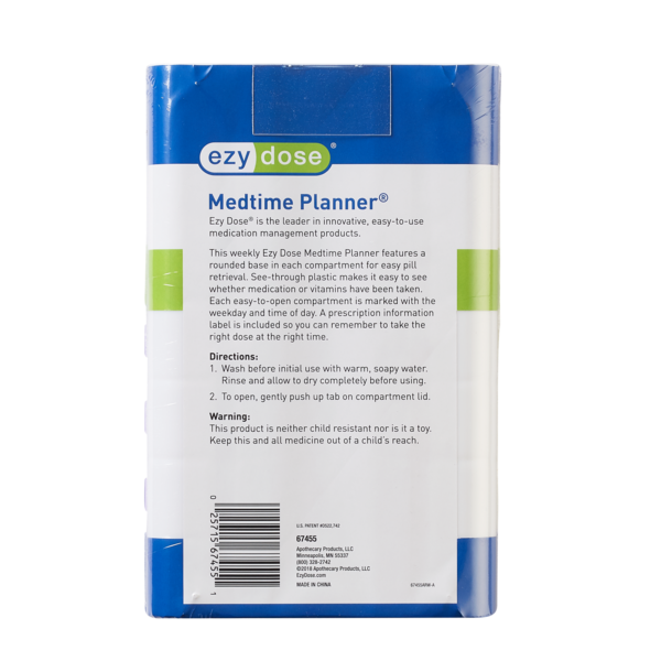 Weekly Medtime Planner® (Medium) directions