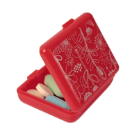 Pockettes® red floral open