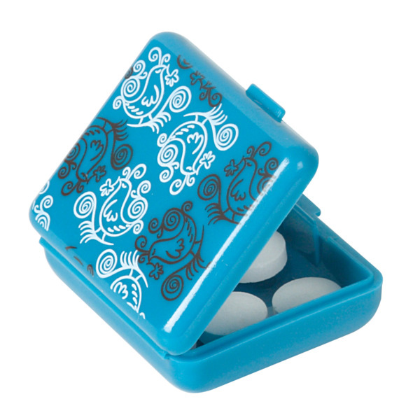 Pockettes® blue floral open