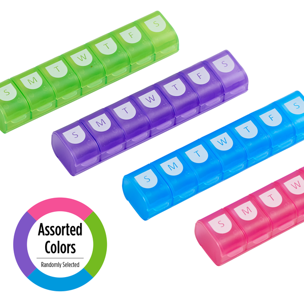 Easy Fill Weekly Pill Organizer (XL) multiple colors