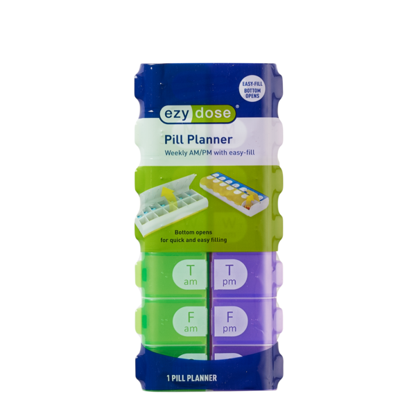 Easy Fill Weekly AM/PM Pill Organizer in packaging