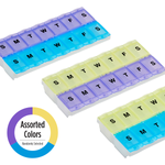 Locking 2-Week Pill Planner (2XL) in assorted colors