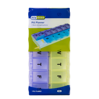 Locking 2-Week Pill Planner (2XL) package