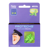 PROTECHS™ Ear Plugs for TRAVEL package