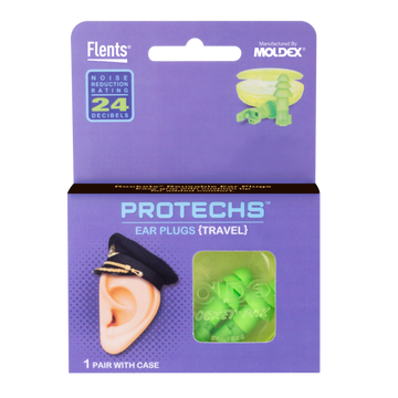 PROTECHS™ Ear Plugs for TRAVEL