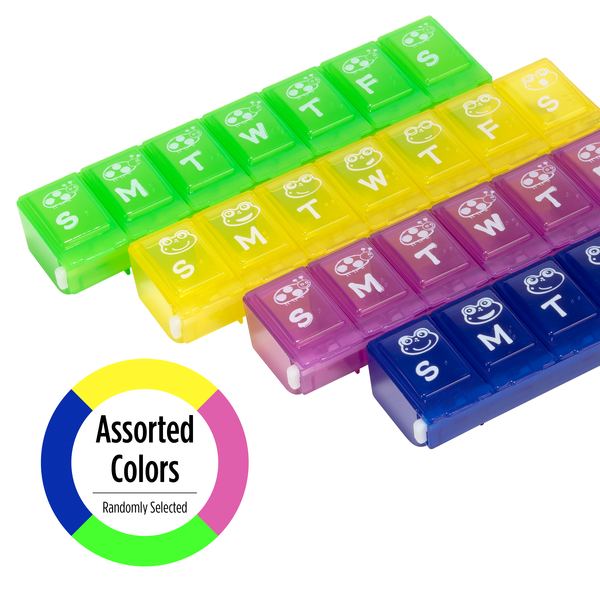 Weekly Family Pill Planner - Assorted colors