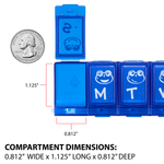 Compartment Dimensions - Weekly Family Pill Planner