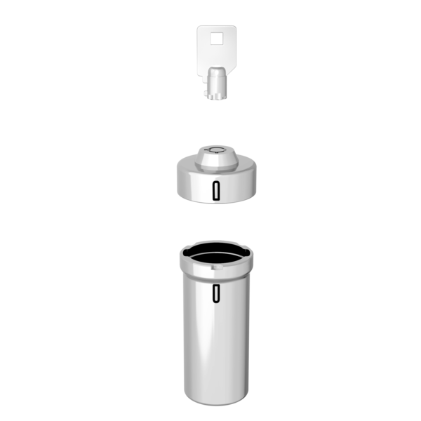 Stainless Steel Locking Pill Container assembly