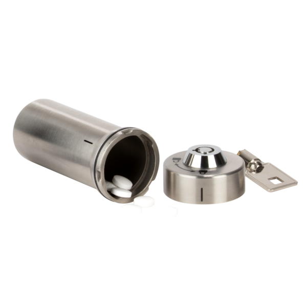 Ezy Dose Stainless Steel Locking Container