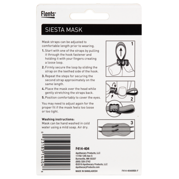 Siesta Mask directions