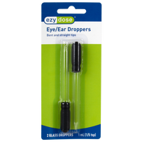 Bent & Straight-Tip Glass Medicine Droppers (1 mL)