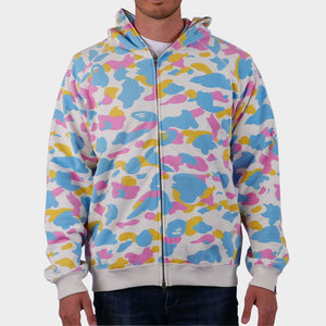 Cotton Candy Camo Full-Zip Hoodie