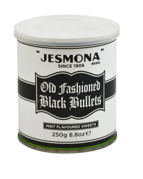 Jesmona Old Fashioned Black Bullets Tin 250g