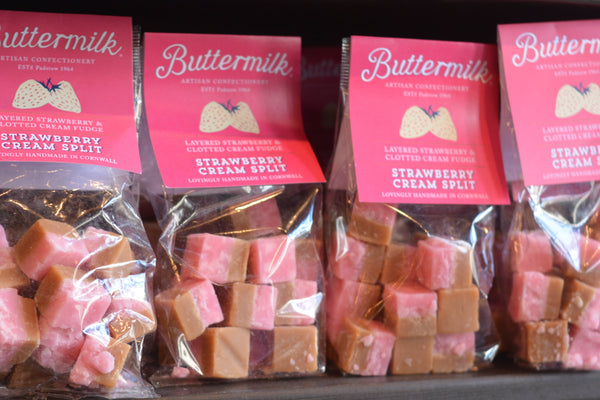 Buttermilk Strawberry Cream Split Fudge