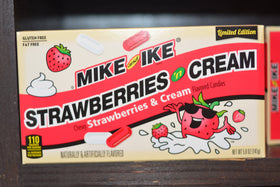 Mike & Ike Limited Edition Strawberries 'n Cream Theatre Box - 5oz (141g)