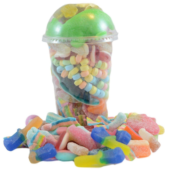 Recyclable vegan shaker pick n mix selection of sweets