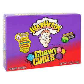 Warheads Sour Chewy Cubes Theatre Box 4oz (113g)