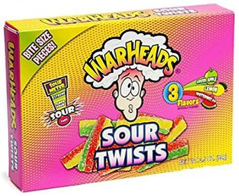 Warheads Sour Twists Theatre Box 3.5ox (99g)