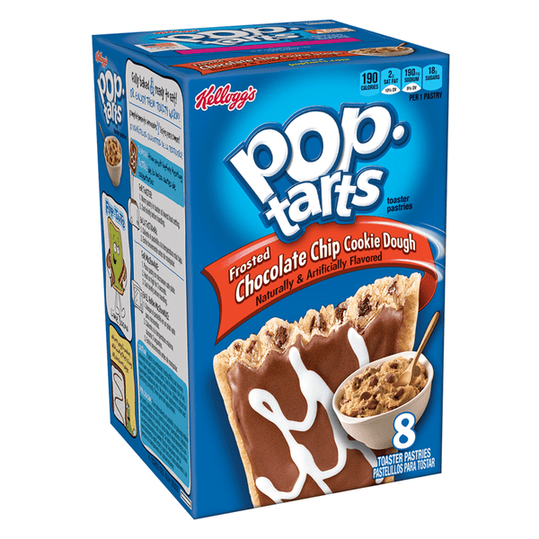 Pop Tarts - Frosted Chocolate Chip Cookie Dough - 8 Pack 14.1oz (400g)