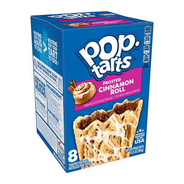 Pop Tarts Frosted Cinnamon Roll - 8-Pack - 13.5oz (384g)