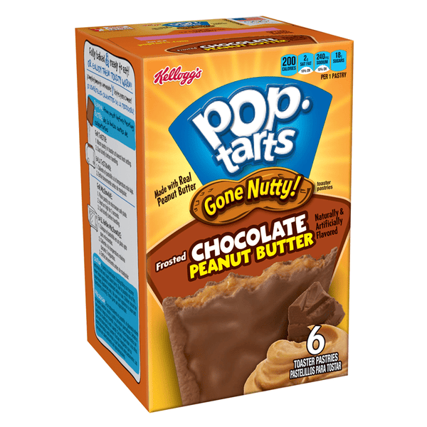 Pop Tarts Gone Nutty Chocolate Peanut Butter 6-Pack 10.5oz (300g)