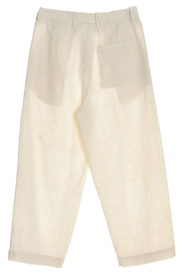 UNBLEACHED ORGANIC COTTON  MENS TROUSER