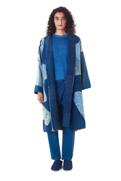 PATCHWORK QUILTED REVERSIBLE OVERCOAT