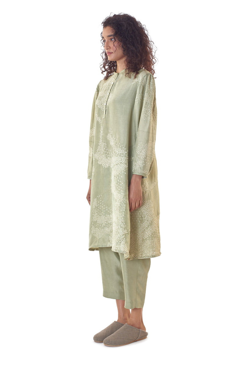 MINT GREEN COMFORT FIT DRESS FINE MULBERRY SILK