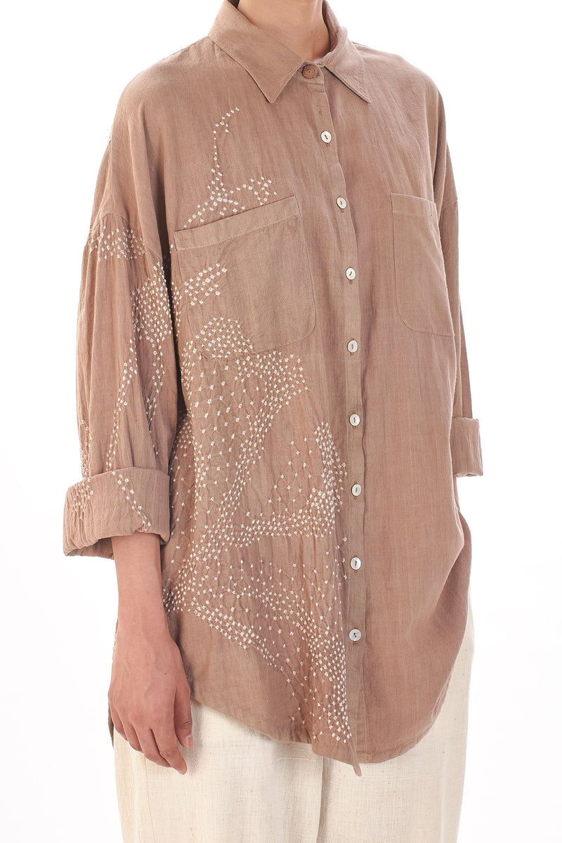 PINK OVERSIZED BOYFRIED SHIRT ORGANIC COTTON