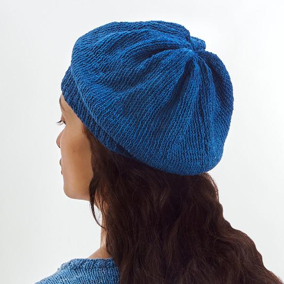 HEIRLOOM INDIGO BERET
